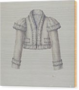 Embroidered Bolero Jacket Wood Print