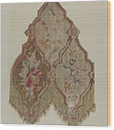 Embroidered Table Scarf Wood Print