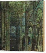 Emerald Arches Wood Print