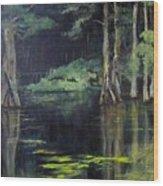 Emerald Bayou Wood Print