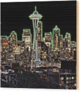Emerald City Wood Print