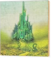 Emerald City Wood Print by Mo T