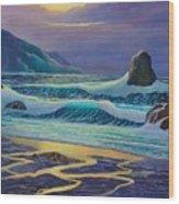 Emerald Cove Wood Print