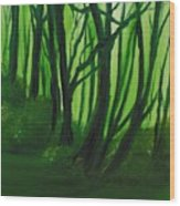 Emerald Forest. Wood Print