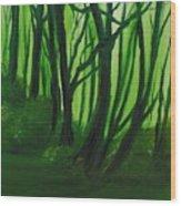 Emerald Forest. Wood Print by Cynthia Adams