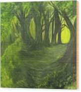 Emerald Forest Wood Print
