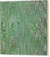 Emerald Green - Abstract Art Wood Print