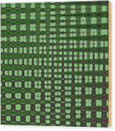Emerald Green And Oak Stump Abstract Wood Print