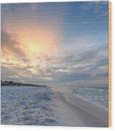 Emerald Gulf Wood Print
