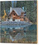 Emerald Lake Cilantro Wood Print