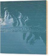 Emerald Lake Glacier Waters Wood Print