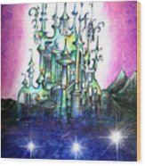 Emerald Palace Of Ancient Queen Of Space Aliens Wood Print