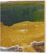 Emerald Pool Yellowstone National Park Wood Print