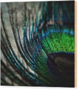 Emerald Shadows Wood Print