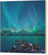 Emerald Sky Wood Print