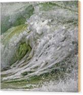 Emerald Storm Wood Print