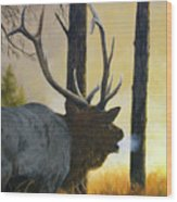 Emerging Monarch - Elk Wood Print
