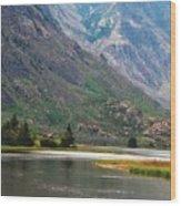 Emerging Mountains Wood Print