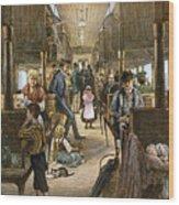Emigrant Coach Car, 1886 Wood Print
