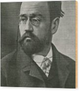Emile Zola, French Author Wood Print by Photo Researchers