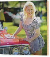 Emily #3 Royal Holden Wood Print