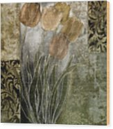 Emily Damask Tulips II Wood Print