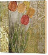 Emily Damask Tulips IIi Wood Print