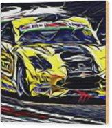 Emily Linscott On The Racetrack - Ginetta Junior Championship Wood Print