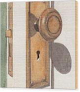 Emily's Door Knob Wood Print