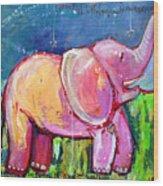 Emily's Elephant 2 Wood Print