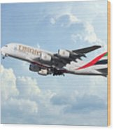 Emirates A380-800 A6-eer Wood Print