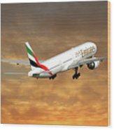 Emirates Boeing 777-36n 2 Wood Print