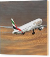 Emirates Boeing 777-36n 3 Wood Print