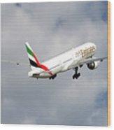 Emirates Boeing 777-36n 5 Wood Print