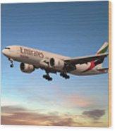 Emirates Boeing 777f A6-efm Wood Print