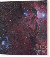 Emission Nebula Ngc 6188 Star Formation Wood Print
