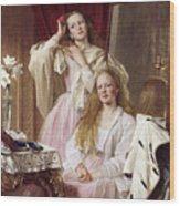 Emma And Federica Bankes Of Soughton Hall  Wood Print