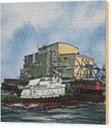 Emma Foss Barge Assist Wood Print