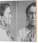 Emma Goldman 1869-1940 Mugshots. She Wood Print