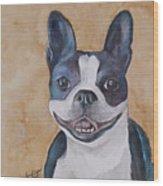 Emma The Boston Terrier Wood Print