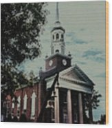 Emmanuel Bell Tower Wood Print