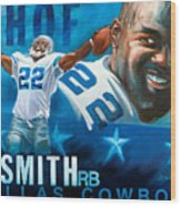 Emmit Smith Hof Wood Print