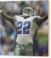 Emmitt Smith, Number 22, Running Back, Dallas Cowboys Wood Print