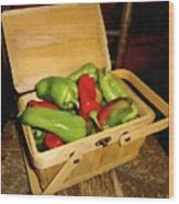 Emmy's Peppers Wood Print
