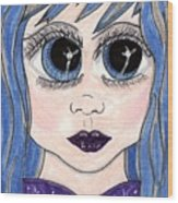 Emo Girl I Wood Print
