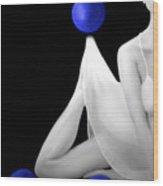Emotionally Numb - Self Portrait Wood Print