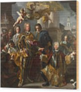 Emperor Charles Vi And Gundacker, Count Althann Wood Print