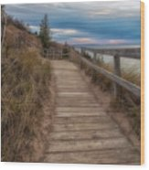 Empire Bluffs 3 Wood Print