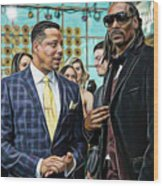 Empire Lucious And Snoop Dog Wood Print