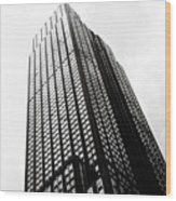 Empire State Building 1950s Bw Wood Print